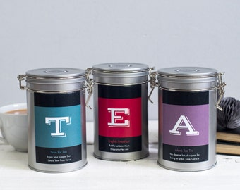 Personalised Initial Tea Gift Tin - Tea Lovers Gift