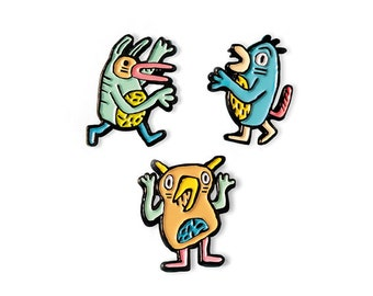 The Tender Monsters Enamel Pin Collection
