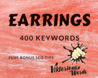 SEO Earrings Keyword for Earrings Tags Jewelry Ready Use Top Search Keyword How to SEO Help Marketing Search Result Instagram Hashtag etsy13