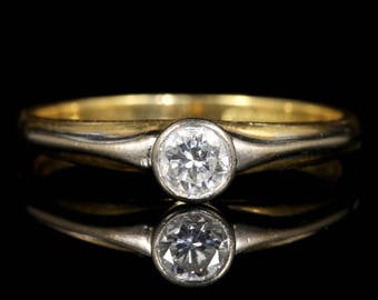Diamond Vintage Engagement Ring 18ct Gold