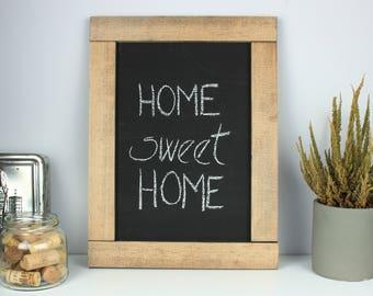 Rustic wooden chalkboard, Rustic wood framed chalkboard, Rustic chalkboard sign, Rustic home wall decor, Kitchen chalkboard
