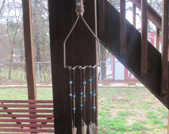 Recycled Vintage Potato Masher Silverware Wind Chime