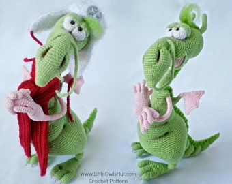 026 Dragon toy with wire frame - Amigurumi Crochet Pattern - PDF file by Astashova Etsy