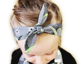 Girls Chemistry Knotted Headband - DNA, atom - Science - Available in youth and adult sizes