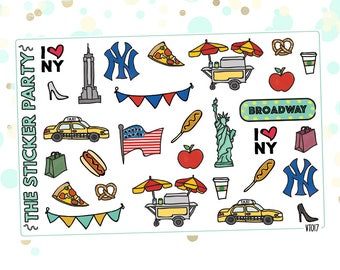 New York City NYC CO Planner Stickers