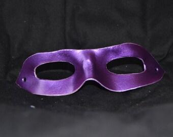 Purple leather superhero mask