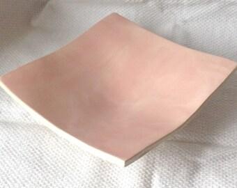 Pink Square Dish - Ceramic Dish - Pottery Dish