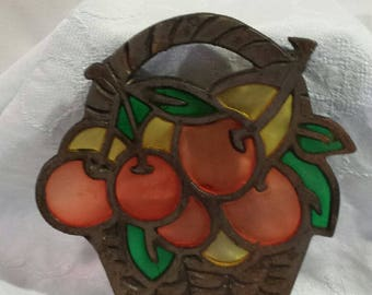 Vintage Stained Glass Trivet