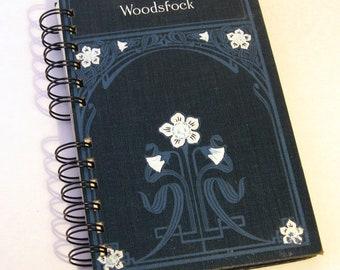 VINTAGE WOODSTOCK JOURNAL Handmade Journal Vintage Upcycled Book Vintage Gift for Woodstock Fan