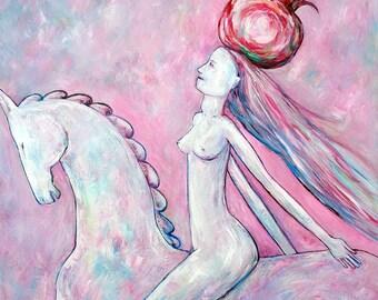 Original artwork figurative art horse painting oil on canvas contemporary wall art by Elisaveta Sivas