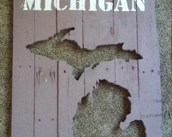 Michigan wall Pallet Art