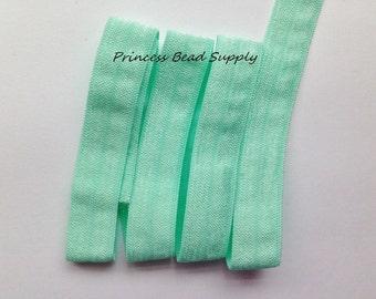 Mint FOE,  5/8 Fold Over Elastic,  3 yards, 5 yards or 10 yards Elastic By The Yard,  Headband Elastic, Hair Ties, Headband Supplies