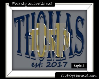 Notre Dame Fighting Irish Custom Last Name Photo Wedding Gift, Anniversary, Man Cave, Wife, Denver, Personalized for you, multiple styles
