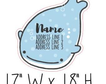 Kawaii Whale Address Labels
