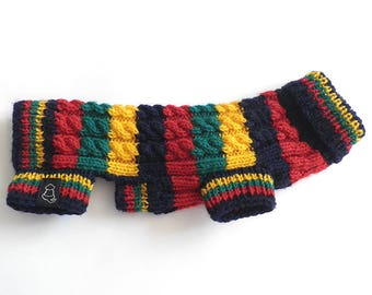 Chihuahua Knit Sweater / Hand Knit Dog Sweater / Cable Dog Sweater / Small Dog Sweater / Chihuahua Sweater / Chihuahua Clothing