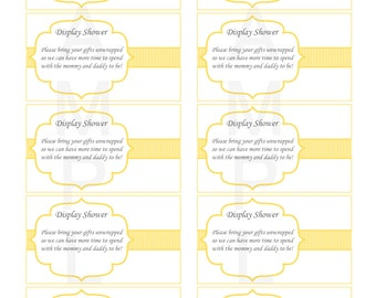 For Baby Shower Invitation Display Shower Bring Your Gifts Unwrapped Baby  Shower Inserts Instant Download (