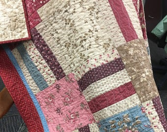 Custom throw quilt - you choose colors