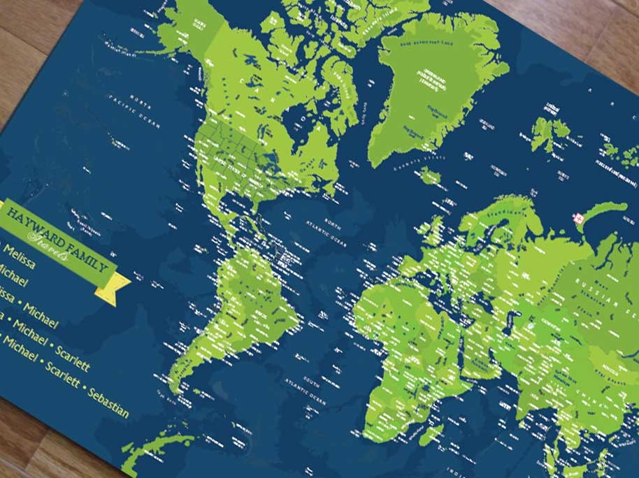 World map mounted on foam board detailed map world travel zoom gumiabroncs Image collections