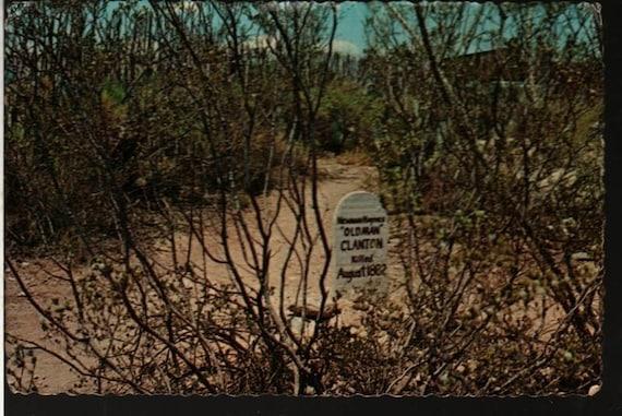 Boothill Graveyard – Tombstone, Arizona – 1971 + Vintage Souvenir Plastichrome Postcard