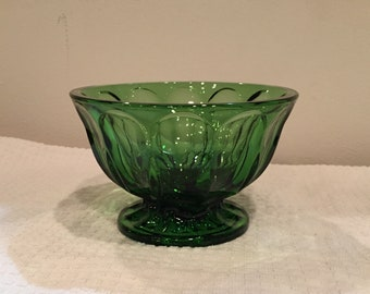 Fairfield candy dish by Anchor Hocking, spearmint green.
