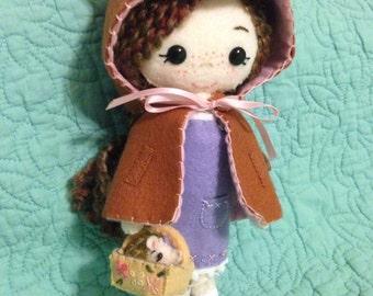 Forest Maiden Felt Doll (Gingermelon style)