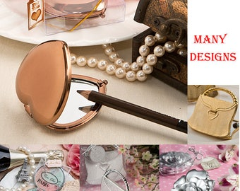 Compact Mirror Favors - Bridal Shower Favors - Compact Mirror Party Favors - Gifts for Lady - 8 Designs