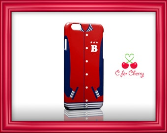 Baseball jacket red 3D Wrapped Phonecase iPhone X 8 plus 7 plus 6 plus 5s 5c Samsung note S7 S8 S9 plus HTC LG sony Phone Case Cover Skin