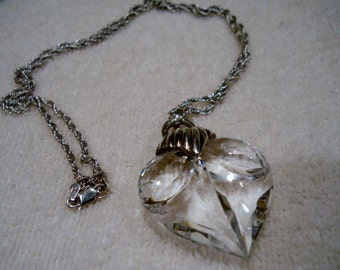 Crystal Heart Necklace Pendant Milor Sterling 925 Italy