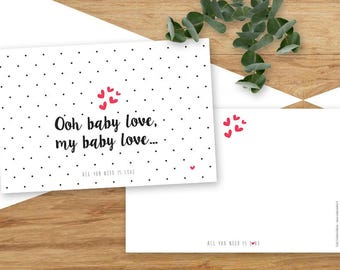 Oh my baby Love card, birth, lovers...