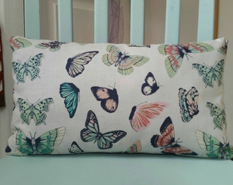 "The ""Papillon"" Accent Pillow; Butterfly pillow; Lumbar Pillow; Novelty Pillow; Toss Pillow"
