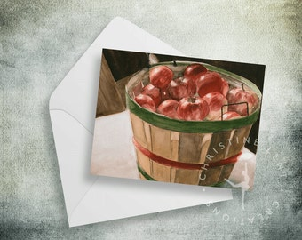 Howdaya Like Them Apples 4 x 5 blank note cards - set of 5
