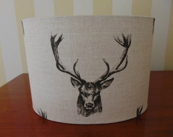 """Gorgeous handmade lampshade from Manydown Interiors in """"Stag"""" fabric"""
