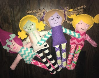 Handmade Fabric Rag Doll - Cloth Doll - Personalized - Made-to-Order