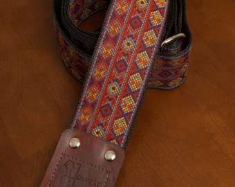 Red/Yellow/Purple Guitar Strap