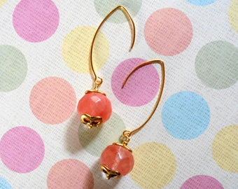 Pink Cherry Quartz Earrings (4089)