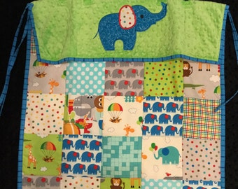 Elephant Car Seat Quilt - Clearance Item