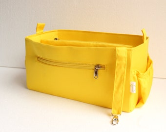 Purse organizer to fit Louis vuitton Epi Neverfull GM - Bag organizer insert in Yellow