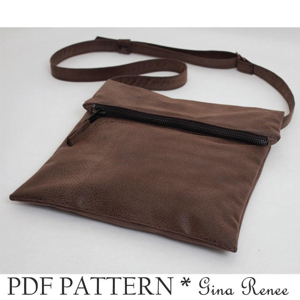Foldover purse sewing pattern fold over bag pattern fold zoom jeuxipadfo Choice Image