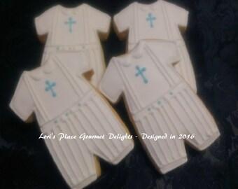 Boy Christening Suit - 12 Cookies