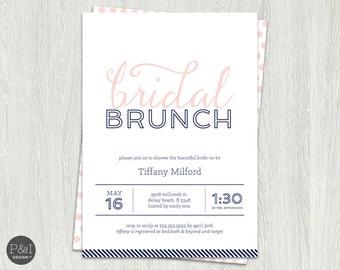 Bridal Brunch Invitation   Bridal Brunch Invites    Customized Digital Printable File (5x7)