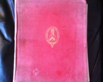 Vintage Harry Furniss 1920s book of 54 caricatures from the Gresham Club 1843 Has some damp and foxing issues