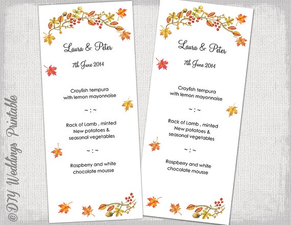 fall menu template kleo beachfix co