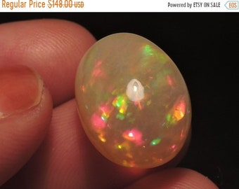 25% OFF Summer Sale 9.35 Carats 1 PC Very Beautiful Natural Ethiopian Welo Fire Opal Smooth Polished Oval Shaped Cabochon Size 17X13 Mm