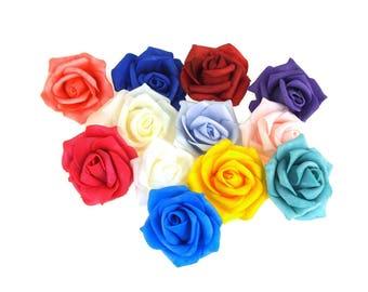 Foam Roses Flower Head Embellishment, 1-1/2-Inch, 12-Piece