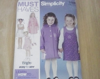 Simplicity 0689, Child's Coat, Jumper and Knit Top