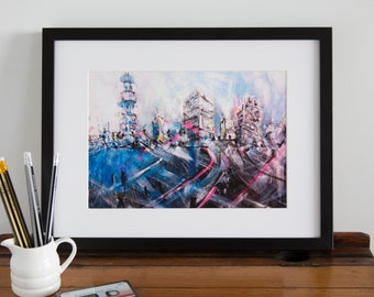 City Night Lights Print