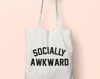 Socially Awkward Tote Bag Long Handles TB0030