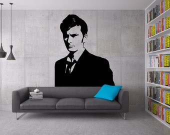 Dr. Who Wall Decal with optional quote