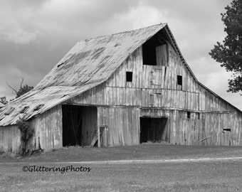 Weathered, Barn, Hall, Indiana, Morgan County, Fine Art, Photography, Print, Glossy, 8 x 10, No 1