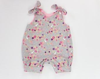Reversible romper, Bubble dungarees, Baby overalls, Baby girl romper, Toddler overalls, Baby dungarees, 1st birthday outfit, Baby playsuit
